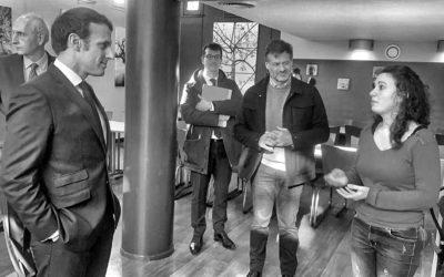 Coronavirus : Emmanuel Macron visite un centre d'hébergement pour sans-abris