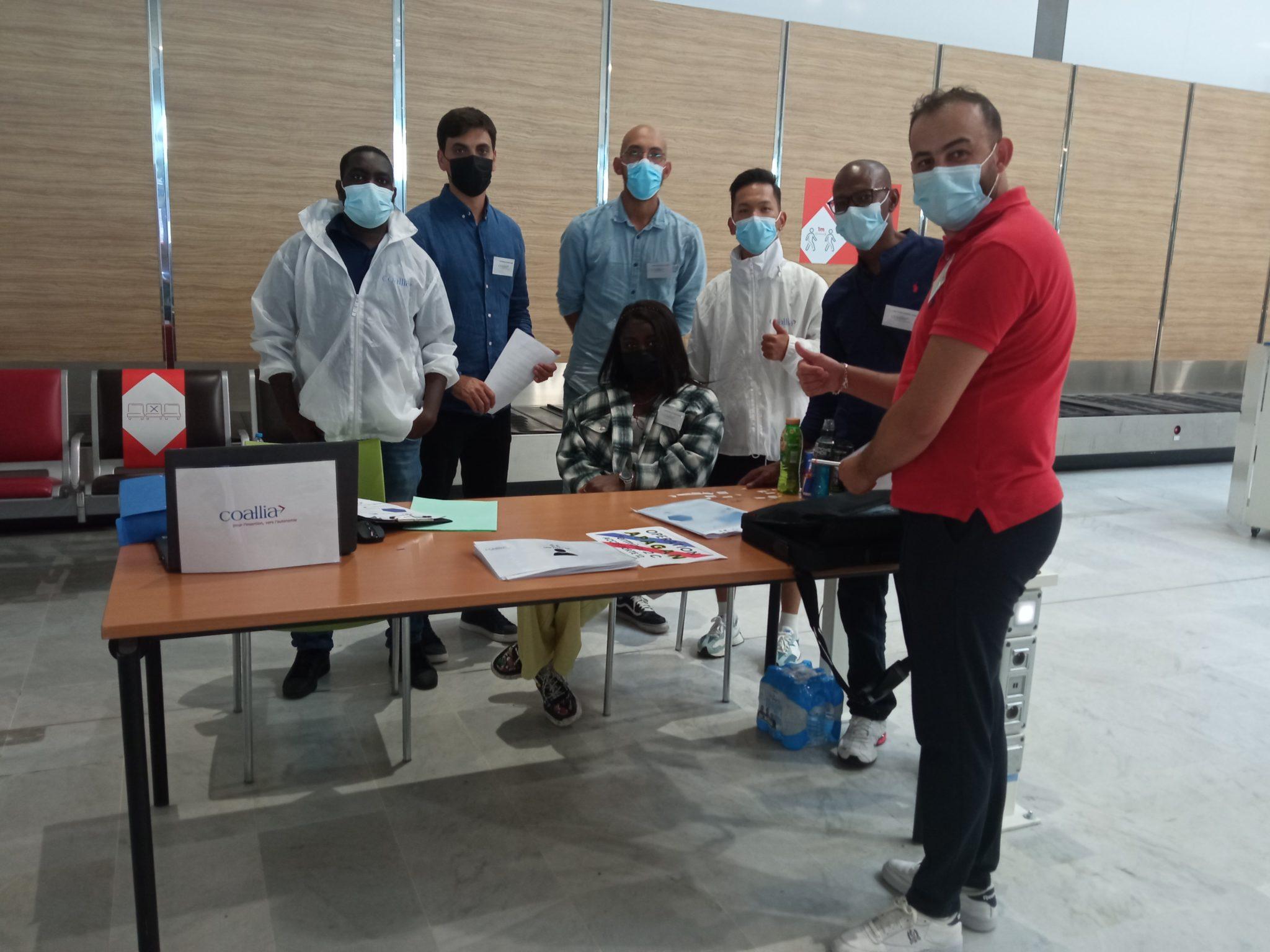Les salariés Coallia à l'aéroport Paris-CDG, prêts à accueillir les ressortissants afghans